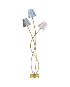Kare Vloerlamp Flexible Velvet Brasstre