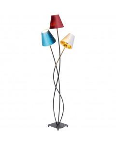 Kare Vloerlamp Flexible Velvet Zwart