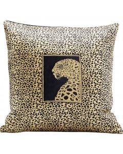 Kare kussen Leopard Face 45x45 cm
