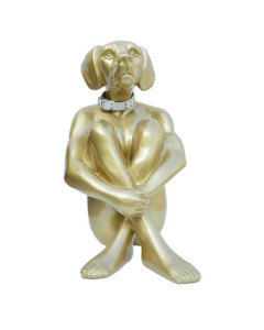 Kare Decofiguur Sitting Dog Gold