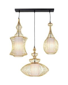Kare Hanglamp Swing Iron Tre Gold