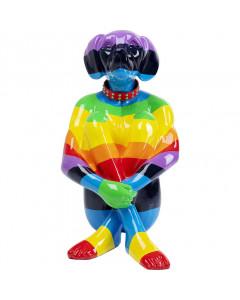Deco Object Sitting Dog Rainbow 80 cm
