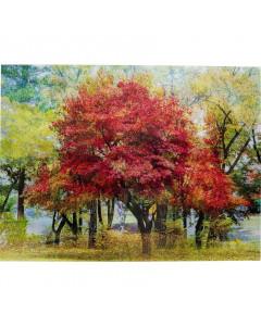 Kare Wandfoto Glass Autumn 160x120 cm