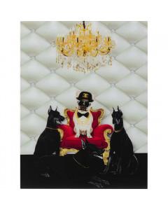 Kare Wandfoto Glass Bodyguards of King Dog