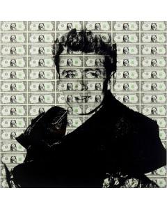 Kare Wandfoto Glass Man of Dollar 100x100 cm