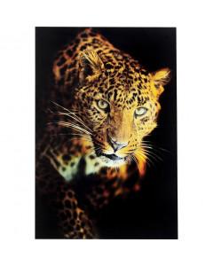 Kare Wandfoto Glass Leopard Shaka 120x80 cm