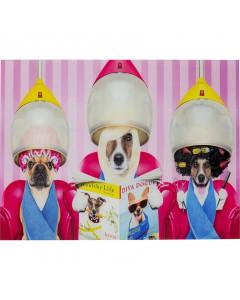 Kare Wandfoto Glass Dogs Day Salon 80x60 cm