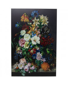 Kare Wandfoto Glass Flower Bouquet
