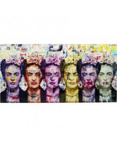 Kare Wandfoto Glass Frida Love 160x80 cm