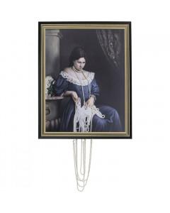 Kare Schilderij Lady Pearls