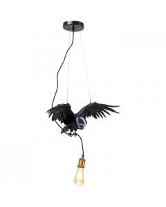 Kare Hanglamp Animal Blue Mask Owl Black