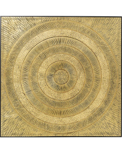 Kare Wanddecoratie Circle Gold 120x120 cm