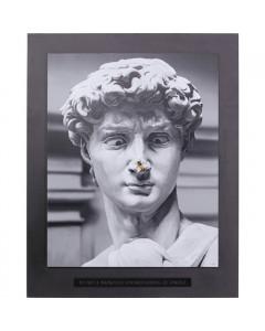 Kare Schilderij Statue 100x125cm