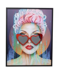 Kare Wandfoto Heart Glasses 80x100cm