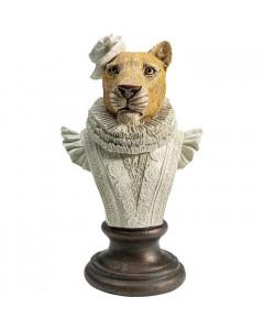 Kare Decofiguur Sir Leopard White