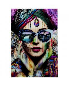 Kare Wandfoto Glass Colorful Artist 80x120cm