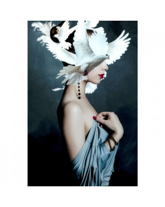 Kare Wandfoto Mother of Doves 80x120cm