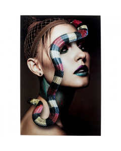 Kare Wandfoto Glass Snake Girl