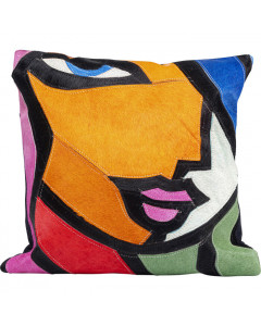 Kare Kussen Abstract Lady Face