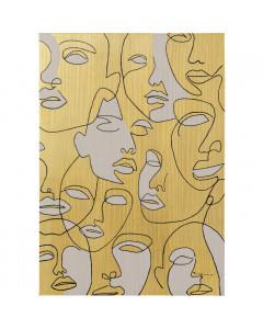 Kare Schilderij Faces 70x100cm