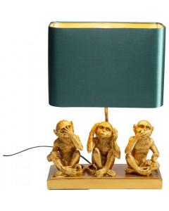 Kare Tafellamp Animal Three Monkey Gold