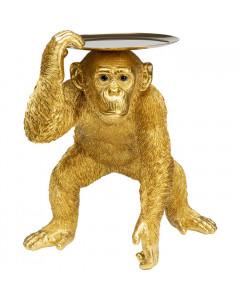 Kare Decofiguur Butler Playing Chimp Gold