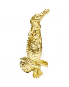 Kare Decofiguur Alligator Gold