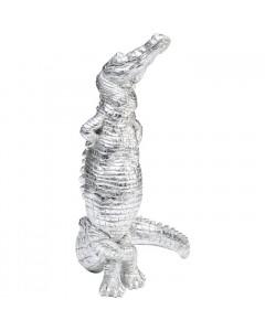 Kare Decofiguur Alligator Silver