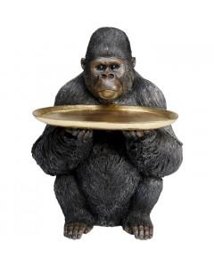Kare Decofiguur Butler Gorilla Holding Tray