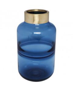Kare Vaas Positano Belly Blue 28cm