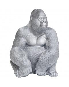 Kare Deco Figuur Monkey Gorilla Side XL Zilver