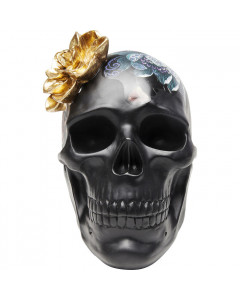 Kare Decofiguur Flower Skull