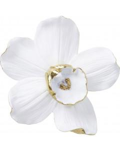 Kare Wanddecoratie Orchid Wit 25 cm
