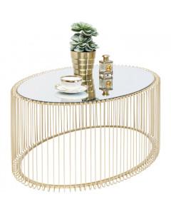 Kare Salontafel Wire Uno Oval Brass