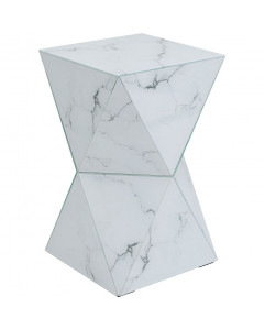 Kare Bijzettafel Luxury Triangle Marble