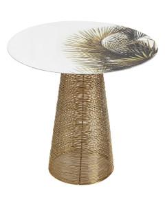 Kare Bijzettafel Charme Palm Ø40 cm