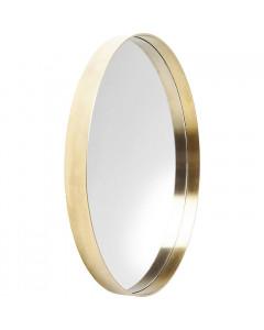 Kare Spiegel Curve MO Brass Ø60cm