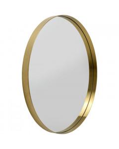 Kare Spiegel Curve MO Brass Ø80cm