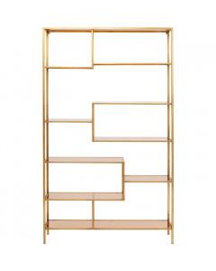 Kare Boekenkast Loft Gold 195x115 cm