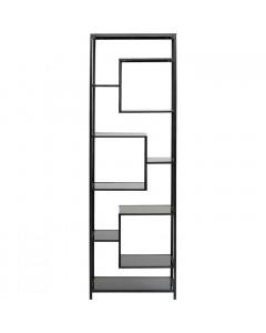 Kare Boekenkast Loft Black 195x60 cm