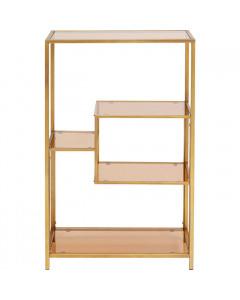 Kare Boekenkast Loft Gold 100x60 cm