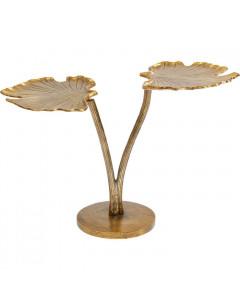 Kare Bijzettafel Leaf Brass