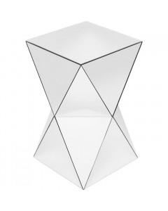 Kare Bijzettafel Luxury Triangle White