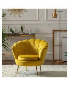 Kare Fauteuil Water Lily Yellow