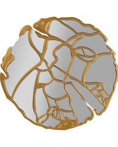 Kare Spiegel Pieces Gold Ø100cm