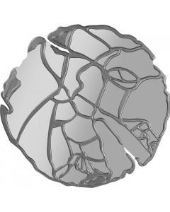 Kare Spiegel Pieces Silver 100cm