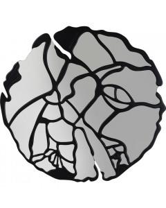 Kare Spiegel Pieces Matt Black 100cm