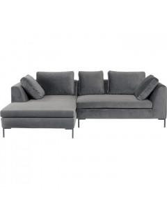 Kare Hoekbank Gianni Velvet Small Left Grey