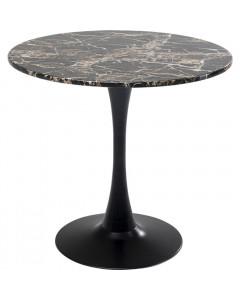 Kare Eettafel Schickeria Marbleprint Black Ø80cm