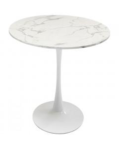 Kare Eettafel Schickeria Marbleprint White Ø80cm